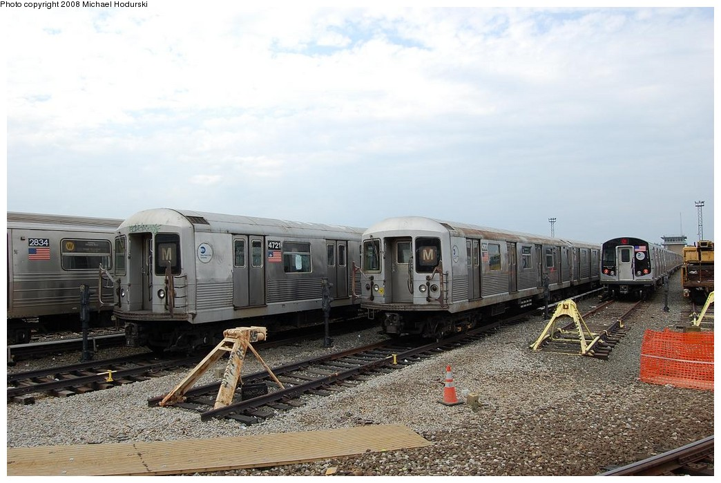 (232k, 1044x699)<br><b>Country:</b> United States<br><b>City:</b> New York<br><b>System:</b> New York City Transit<br><b>Location:</b> Coney Island Yard<br><b>Car:</b> R-42 (St. Louis, 1969-1970)  4721-4701 <br><b>Photo by:</b> Michael Hodurski<br><b>Date:</b> 4/12/2008<br><b>Viewed (this week/total):</b> 2 / 1152
