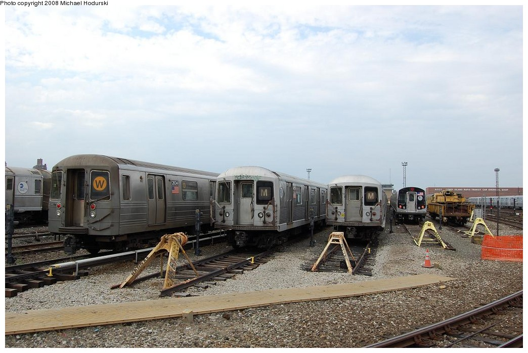 (231k, 1044x699)<br><b>Country:</b> United States<br><b>City:</b> New York<br><b>System:</b> New York City Transit<br><b>Location:</b> Coney Island Yard<br><b>Car:</b> R-68 (Westinghouse-Amrail, 1986-1988)  2834 <br><b>Photo by:</b> Michael Hodurski<br><b>Date:</b> 4/12/2008<br><b>Viewed (this week/total):</b> 0 / 1023