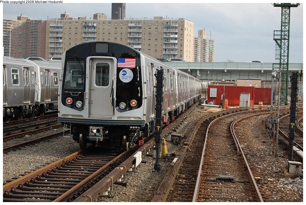 (328k, 1044x699)<br><b>Country:</b> United States<br><b>City:</b> New York<br><b>System:</b> New York City Transit<br><b>Location:</b> Coney Island Yard<br><b>Car:</b> R-160B (Kawasaki, 2005-2008)  8958 <br><b>Photo by:</b> Michael Hodurski<br><b>Date:</b> 4/12/2008<br><b>Viewed (this week/total):</b> 0 / 2090