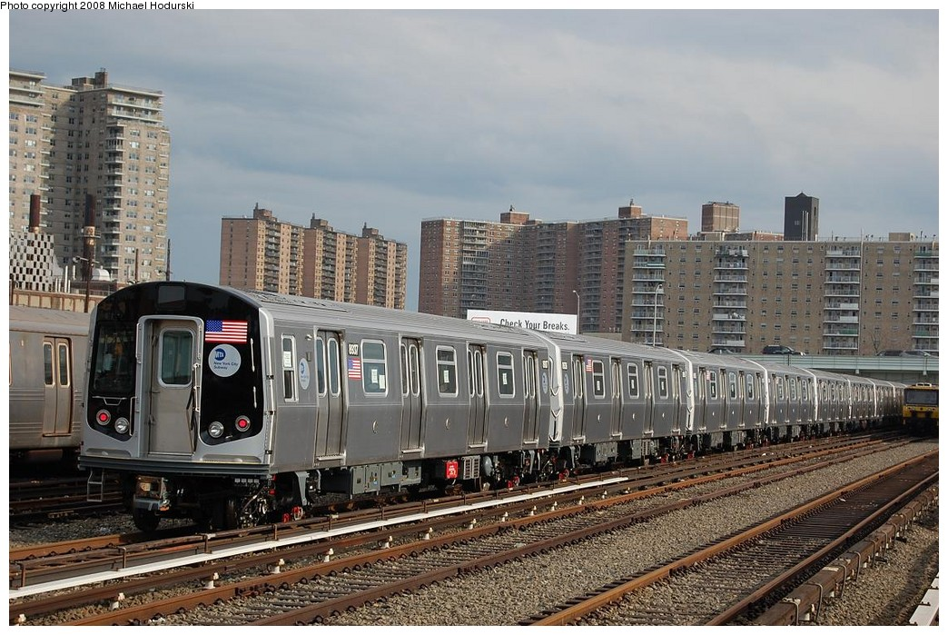 (268k, 1044x699)<br><b>Country:</b> United States<br><b>City:</b> New York<br><b>System:</b> New York City Transit<br><b>Location:</b> Coney Island Yard<br><b>Car:</b> R-160B (Kawasaki, 2005-2008)  8937 <br><b>Photo by:</b> Michael Hodurski<br><b>Date:</b> 4/12/2008<br><b>Viewed (this week/total):</b> 1 / 2016