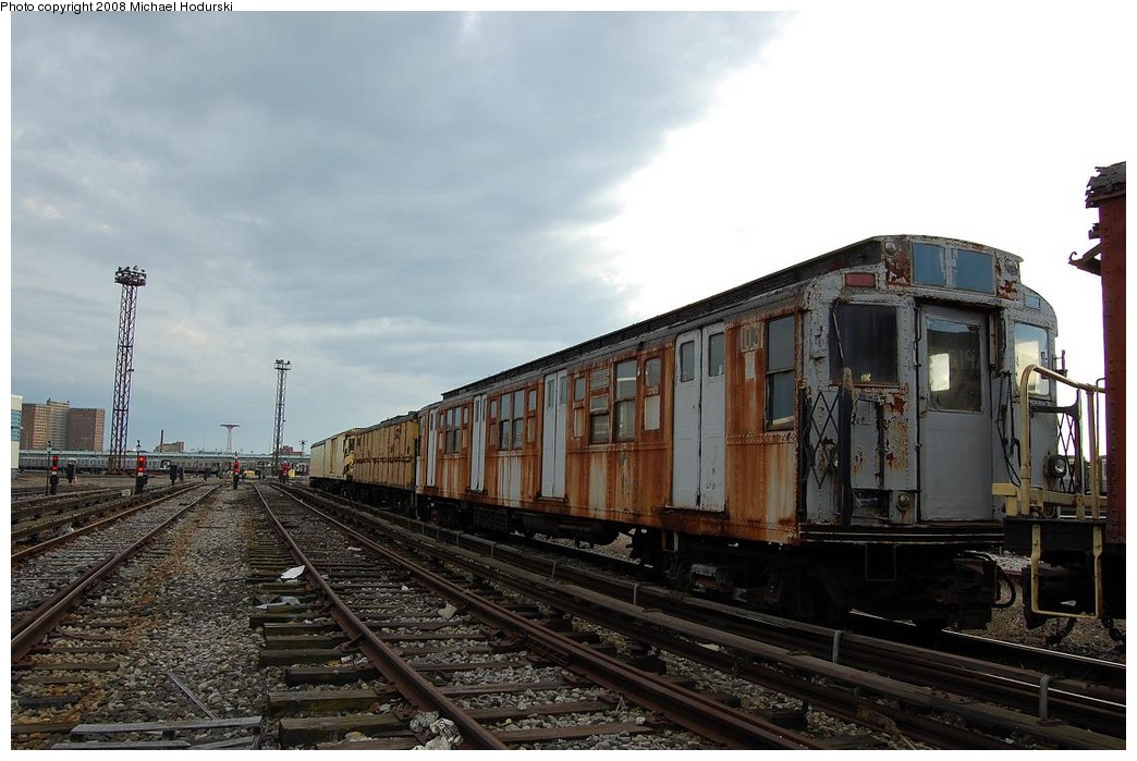 (212k, 1044x699)<br><b>Country:</b> United States<br><b>City:</b> New York<br><b>System:</b> New York City Transit<br><b>Location:</b> Coney Island Yard<br><b>Car:</b> R-1 (American Car & Foundry, 1930-1931) 103 <br><b>Photo by:</b> Michael Hodurski<br><b>Date:</b> 4/12/2008<br><b>Viewed (this week/total):</b> 5 / 1615