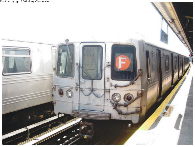 (107k, 820x620)<br><b>Country:</b> United States<br><b>City:</b> New York<br><b>System:</b> New York City Transit<br><b>Line:</b> BMT Culver Line<br><b>Location:</b> Avenue X <br><b>Route:</b> F<br><b>Car:</b> R-46 (Pullman-Standard, 1974-75) 5748 <br><b>Photo by:</b> Gary Chatterton<br><b>Date:</b> 4/12/2008<br><b>Viewed (this week/total):</b> 0 / 807