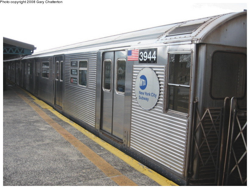 (132k, 820x620)<br><b>Country:</b> United States<br><b>City:</b> New York<br><b>System:</b> New York City Transit<br><b>Line:</b> BMT Culver Line<br><b>Location:</b> Kings Highway <br><b>Route:</b> F<br><b>Car:</b> R-32 (Budd, 1964)  3944 <br><b>Photo by:</b> Gary Chatterton<br><b>Date:</b> 4/12/2008<br><b>Viewed (this week/total):</b> 0 / 1065
