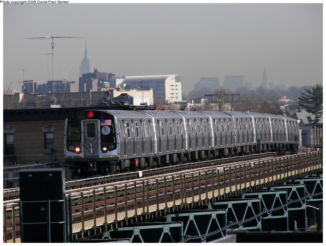 (278k, 1044x788)<br><b>Country:</b> United States<br><b>City:</b> New York<br><b>System:</b> New York City Transit<br><b>Line:</b> BMT West End Line<br><b>Location:</b> 18th Avenue <br><b>Route:</b> M<br><b>Car:</b> R-160A-1 (Alstom, 2005-2008, 4 car sets)   <br><b>Photo by:</b> David-Paul Gerber<br><b>Date:</b> 4/17/2008<br><b>Viewed (this week/total):</b> 0 / 1834