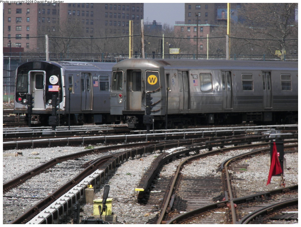 (309k, 1044x788)<br><b>Country:</b> United States<br><b>City:</b> New York<br><b>System:</b> New York City Transit<br><b>Location:</b> Coney Island Yard<br><b>Car:</b> R-68A (Kawasaki, 1988-1989)  5192 <br><b>Photo by:</b> David-Paul Gerber<br><b>Date:</b> 4/12/2008<br><b>Viewed (this week/total):</b> 0 / 1707