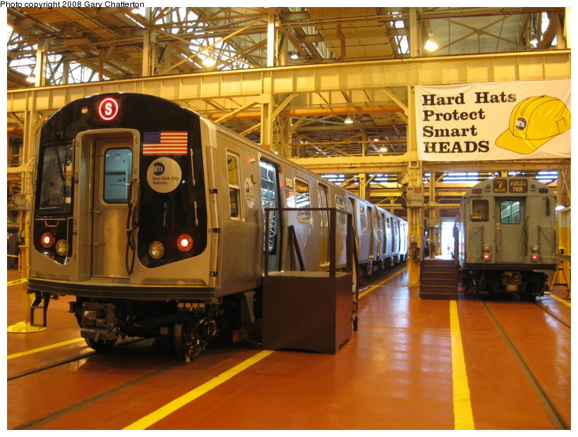 (168k, 820x620)<br><b>Country:</b> United States<br><b>City:</b> New York<br><b>System:</b> New York City Transit<br><b>Location:</b> Coney Island Shop/Overhaul & Repair Shop<br><b>Car:</b> R-160A-1 (Alstom, 2005-2008, 4 car sets)  8480 <br><b>Photo by:</b> Gary Chatterton<br><b>Date:</b> 4/12/2008<br><b>Viewed (this week/total):</b> 1 / 3048