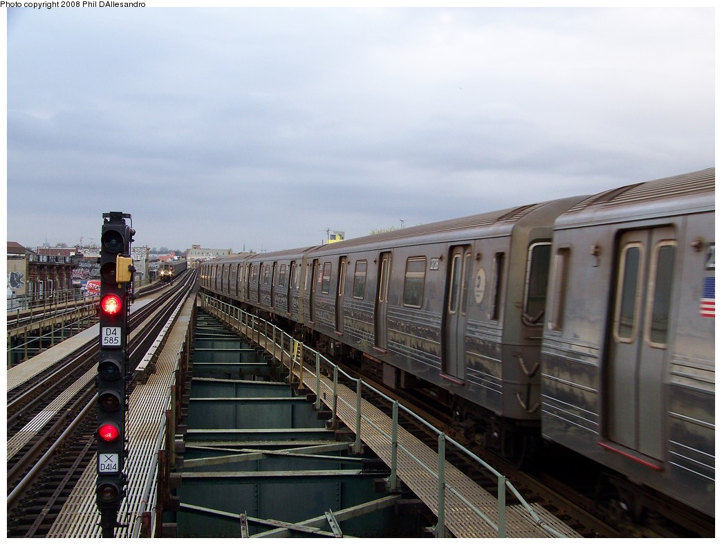 (205k, 1044x788)<br><b>Country:</b> United States<br><b>City:</b> New York<br><b>System:</b> New York City Transit<br><b>Line:</b> BMT West End Line<br><b>Location:</b> 62nd Street <br><b>Route:</b> D<br><b>Car:</b> R-68 (Westinghouse-Amrail, 1986-1988)  2728 <br><b>Photo by:</b> Philip D'Allesandro<br><b>Date:</b> 4/20/2008<br><b>Viewed (this week/total):</b> 2 / 849