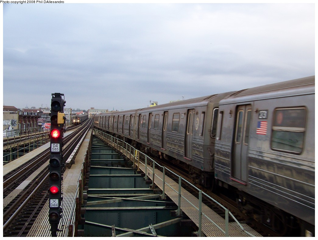 (204k, 1044x788)<br><b>Country:</b> United States<br><b>City:</b> New York<br><b>System:</b> New York City Transit<br><b>Line:</b> BMT West End Line<br><b>Location:</b> 62nd Street <br><b>Route:</b> D<br><b>Car:</b> R-68 (Westinghouse-Amrail, 1986-1988)  2729 <br><b>Photo by:</b> Philip D'Allesandro<br><b>Date:</b> 4/20/2008<br><b>Viewed (this week/total):</b> 0 / 1238