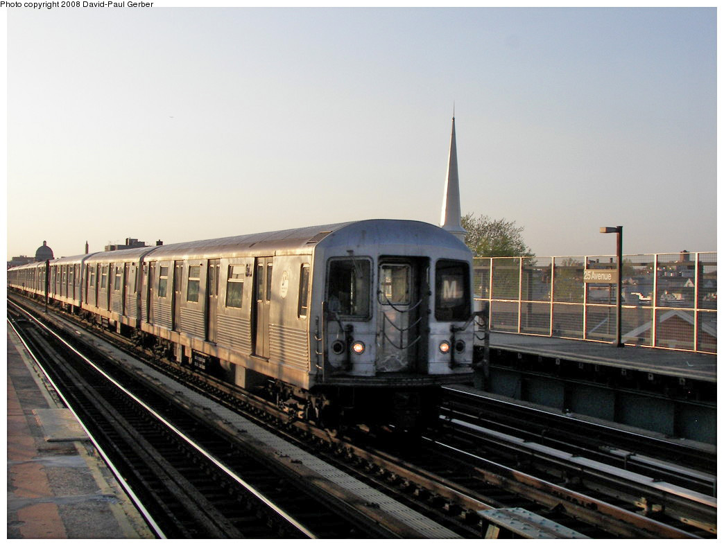 (236k, 1044x788)<br><b>Country:</b> United States<br><b>City:</b> New York<br><b>System:</b> New York City Transit<br><b>Line:</b> BMT West End Line<br><b>Location:</b> 25th Avenue <br><b>Route:</b> M<br><b>Car:</b> R-42 (St. Louis, 1969-1970)  4738 <br><b>Photo by:</b> David-Paul Gerber<br><b>Date:</b> 4/22/2008<br><b>Viewed (this week/total):</b> 0 / 942