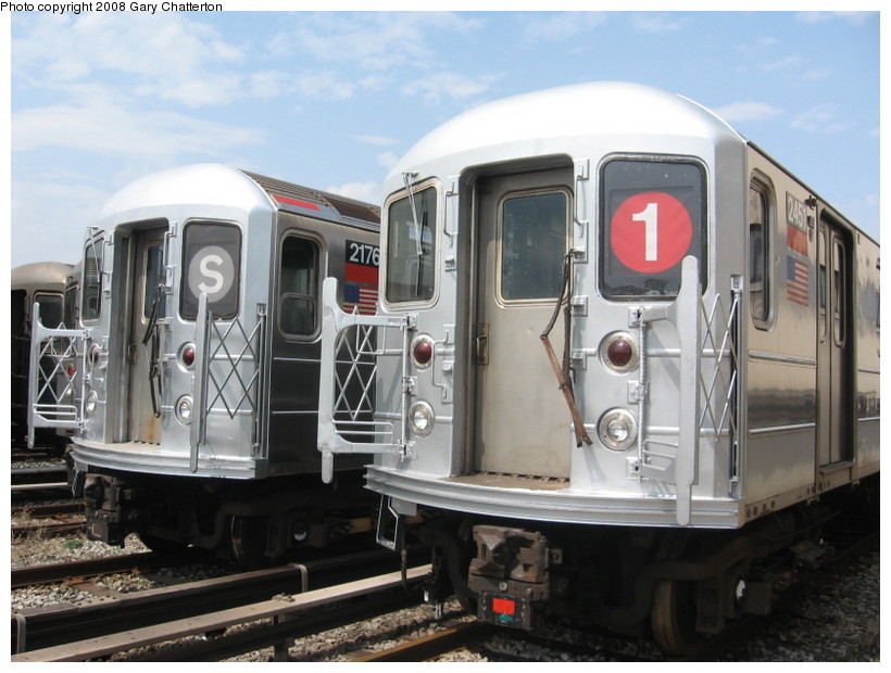 (130k, 820x620)<br><b>Country:</b> United States<br><b>City:</b> New York<br><b>System:</b> New York City Transit<br><b>Location:</b> Coney Island Yard<br><b>Car:</b> R-62A (Bombardier, 1984-1987)  2176/2451 <br><b>Photo by:</b> Gary Chatterton<br><b>Date:</b> 4/12/2008<br><b>Viewed (this week/total):</b> 0 / 1675