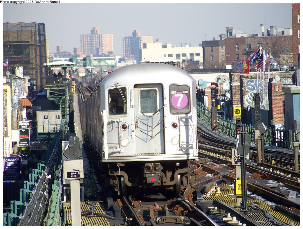 (307k, 1044x788)<br><b>Country:</b> United States<br><b>City:</b> New York<br><b>System:</b> New York City Transit<br><b>Line:</b> IRT Flushing Line<br><b>Location:</b> 74th Street/Broadway <br><b>Route:</b> 7<br><b>Car:</b> R-62A (Bombardier, 1984-1987)  2151 <br><b>Photo by:</b> DeAndre Burrell<br><b>Date:</b> 4/12/2007<br><b>Viewed (this week/total):</b> 2 / 909