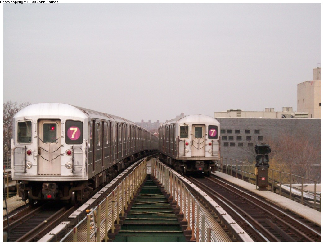 (178k, 1044x788)<br><b>Country:</b> United States<br><b>City:</b> New York<br><b>System:</b> New York City Transit<br><b>Line:</b> IRT Flushing Line<br><b>Location:</b> Junction Boulevard <br><b>Route:</b> 7<br><b>Car:</b> R-62A (Bombardier, 1984-1987)  1791 <br><b>Photo by:</b> John Barnes<br><b>Date:</b> 4/7/2008<br><b>Viewed (this week/total):</b> 7 / 917