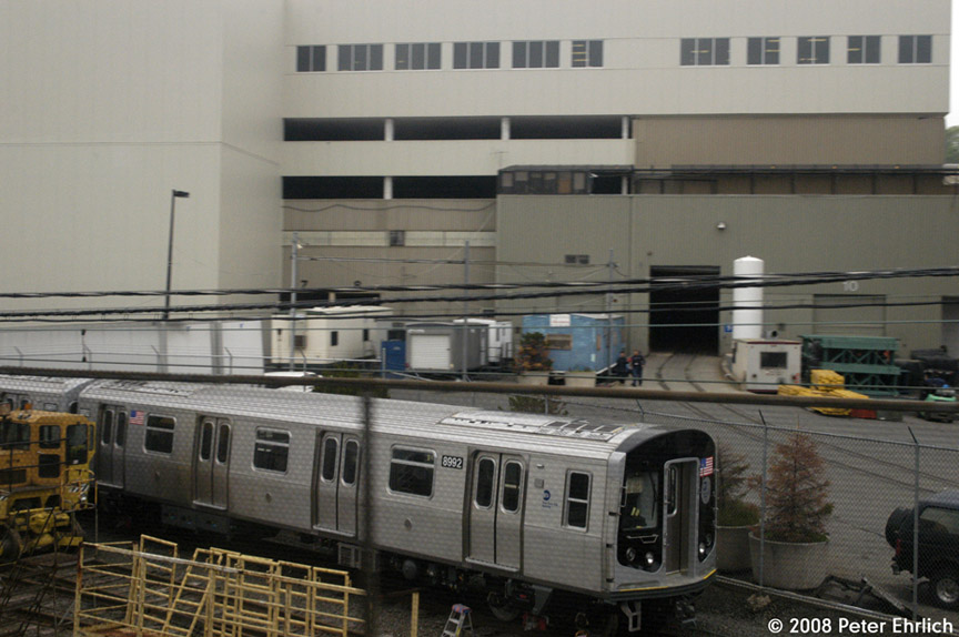 (167k, 864x574)<br><b>Country:</b> United States<br><b>City:</b> New York<br><b>System:</b> New York City Transit<br><b>Location:</b> Kawasaki Plant, Yonkers, NY<br><b>Car:</b> R-160B (Option 1) (Kawasaki, 2008-2009)  8992 <br><b>Photo by:</b> Peter Ehrlich<br><b>Date:</b> 5/2/2008<br><b>Viewed (this week/total):</b> 0 / 1205