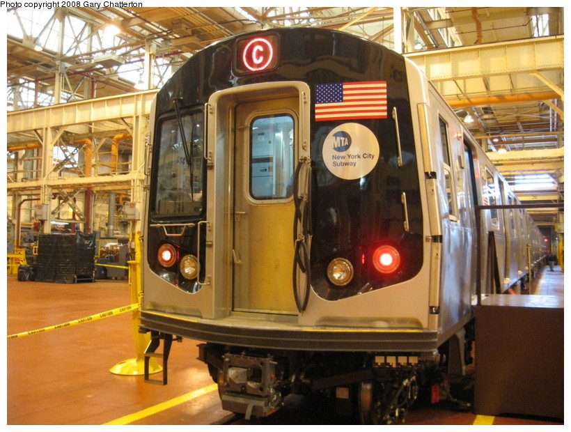 (169k, 820x620)<br><b>Country:</b> United States<br><b>City:</b> New York<br><b>System:</b> New York City Transit<br><b>Location:</b> Coney Island Shop/Overhaul & Repair Shop<br><b>Car:</b> R-160A-1 (Alstom, 2005-2008, 4 car sets)  8480 <br><b>Photo by:</b> Gary Chatterton<br><b>Date:</b> 4/12/2008<br><b>Viewed (this week/total):</b> 0 / 2778