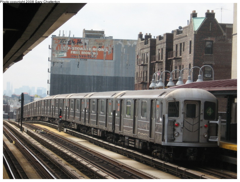 (145k, 820x620)<br><b>Country:</b> United States<br><b>City:</b> New York<br><b>System:</b> New York City Transit<br><b>Line:</b> IRT Woodlawn Line<br><b>Location:</b> 183rd Street <br><b>Route:</b> 4<br><b>Car:</b> R-62 (Kawasaki, 1983-1985)  1616 <br><b>Photo by:</b> Gary Chatterton<br><b>Date:</b> 5/4/2008<br><b>Viewed (this week/total):</b> 0 / 1483