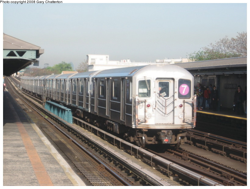 (125k, 820x620)<br><b>Country:</b> United States<br><b>City:</b> New York<br><b>System:</b> New York City Transit<br><b>Line:</b> IRT Flushing Line<br><b>Location:</b> 103rd Street/Corona Plaza <br><b>Route:</b> 7<br><b>Car:</b> R-62A (Bombardier, 1984-1987)  2139 <br><b>Photo by:</b> Gary Chatterton<br><b>Date:</b> 5/6/2008<br><b>Viewed (this week/total):</b> 0 / 758