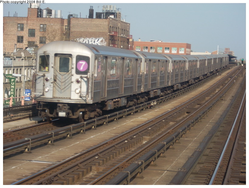 (173k, 819x619)<br><b>Country:</b> United States<br><b>City:</b> New York<br><b>System:</b> New York City Transit<br><b>Line:</b> IRT Flushing Line<br><b>Location:</b> 46th Street/Bliss Street <br><b>Route:</b> 7<br><b>Car:</b> R-62A (Bombardier, 1984-1987)  1755 <br><b>Photo by:</b> Bill E.<br><b>Date:</b> 4/23/2008<br><b>Viewed (this week/total):</b> 2 / 880
