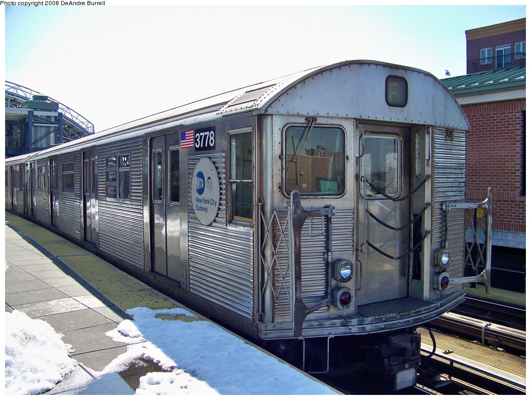 (255k, 1044x788)<br><b>Country:</b> United States<br><b>City:</b> New York<br><b>System:</b> New York City Transit<br><b>Location:</b> Coney Island/Stillwell Avenue<br><b>Route:</b> F<br><b>Car:</b> R-32 (Budd, 1964)  3778 <br><b>Photo by:</b> DeAndre Burrell<br><b>Date:</b> 4/12/2007<br><b>Viewed (this week/total):</b> 0 / 1271