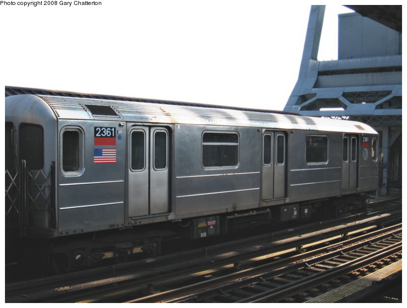 (98k, 820x620)<br><b>Country:</b> United States<br><b>City:</b> New York<br><b>System:</b> New York City Transit<br><b>Line:</b> IRT West Side Line<br><b>Location:</b> 225th Street <br><b>Route:</b> 1<br><b>Car:</b> R-62A (Bombardier, 1984-1987)  2361 <br><b>Photo by:</b> Gary Chatterton<br><b>Date:</b> 3/11/2008<br><b>Viewed (this week/total):</b> 0 / 1252