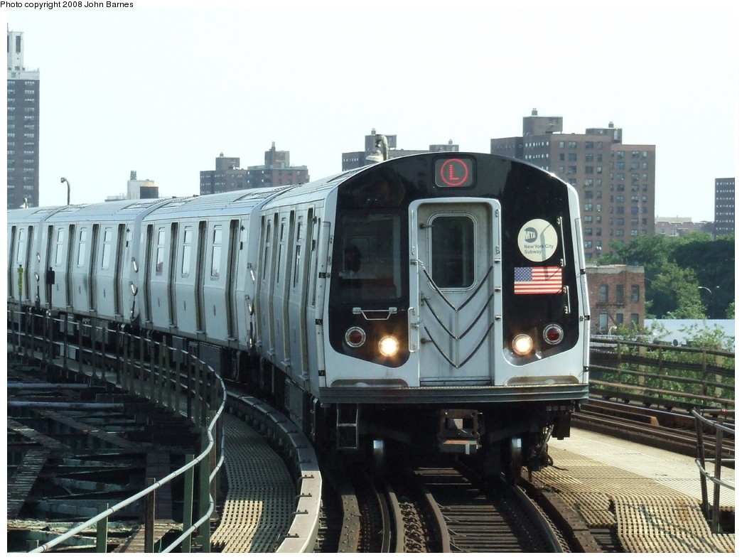 (214k, 1044x788)<br><b>Country:</b> United States<br><b>City:</b> New York<br><b>System:</b> New York City Transit<br><b>Line:</b> BMT Canarsie Line<br><b>Location:</b> Atlantic Avenue <br><b>Route:</b> L<br><b>Car:</b> R-143 (Kawasaki, 2001-2002) 8112 <br><b>Photo by:</b> John Barnes<br><b>Date:</b> 6/21/2007<br><b>Viewed (this week/total):</b> 3 / 1523