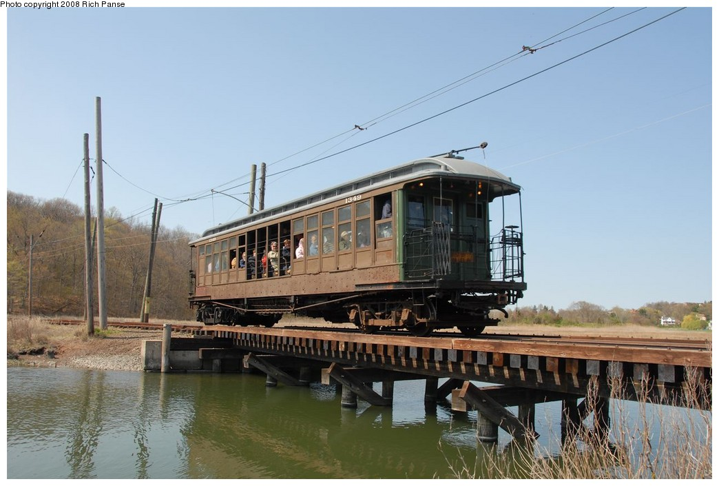 (173k, 1044x705)<br><b>Country:</b> United States<br><b>City:</b> East Haven/Branford, Ct.<br><b>System:</b> Shore Line Trolley Museum <br><b>Car:</b> BMT Elevated Gate Car 1349 <br><b>Photo by:</b> Richard Panse<br><b>Date:</b> 4/26/2008<br><b>Viewed (this week/total):</b> 3 / 890