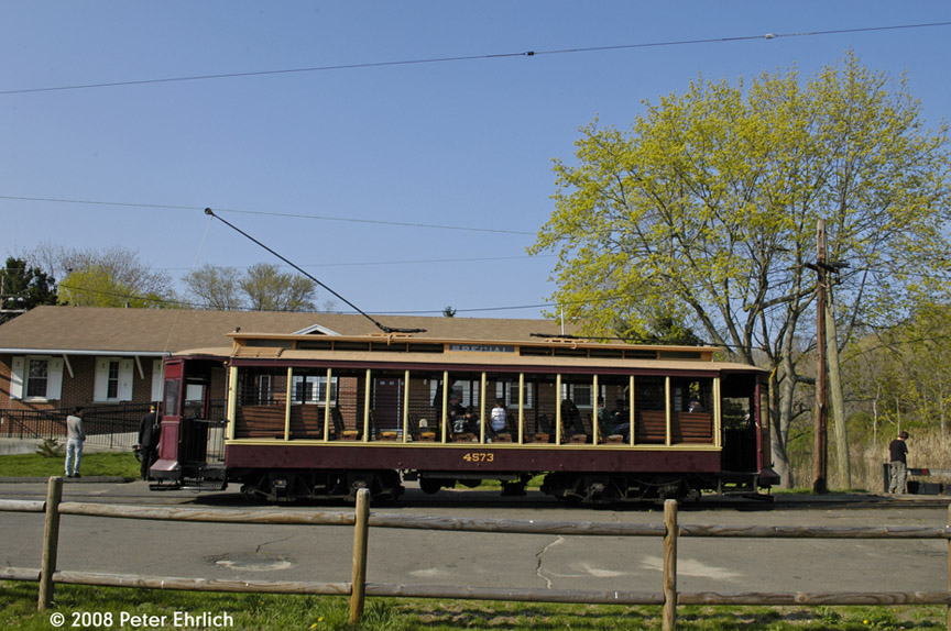(209k, 864x574)<br><b>Country:</b> United States<br><b>City:</b> East Haven/Branford, Ct.<br><b>System:</b> Shore Line Trolley Museum <br><b>Car:</b> B&QT/BMT 4573 <br><b>Photo by:</b> Peter Ehrlich<br><b>Date:</b> 4/26/2008<br><b>Notes:</b> Sprague terminal.<br><b>Viewed (this week/total):</b> 1 / 385