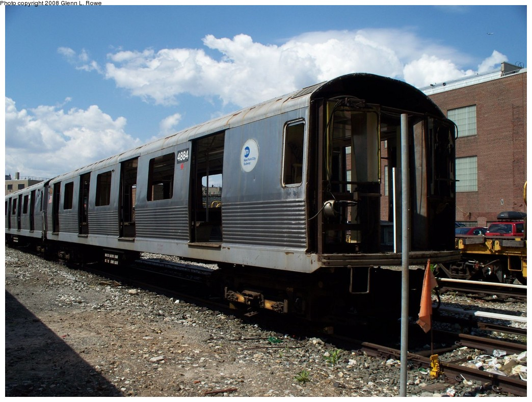 (240k, 1044x789)<br><b>Country:</b> United States<br><b>City:</b> New York<br><b>System:</b> New York City Transit<br><b>Location:</b> 207th Street Yard<br><b>Car:</b> R-42 (St. Louis, 1969-1970)  4884 <br><b>Photo by:</b> Glenn L. Rowe<br><b>Date:</b> 5/21/2008<br><b>Viewed (this week/total):</b> 8 / 1067