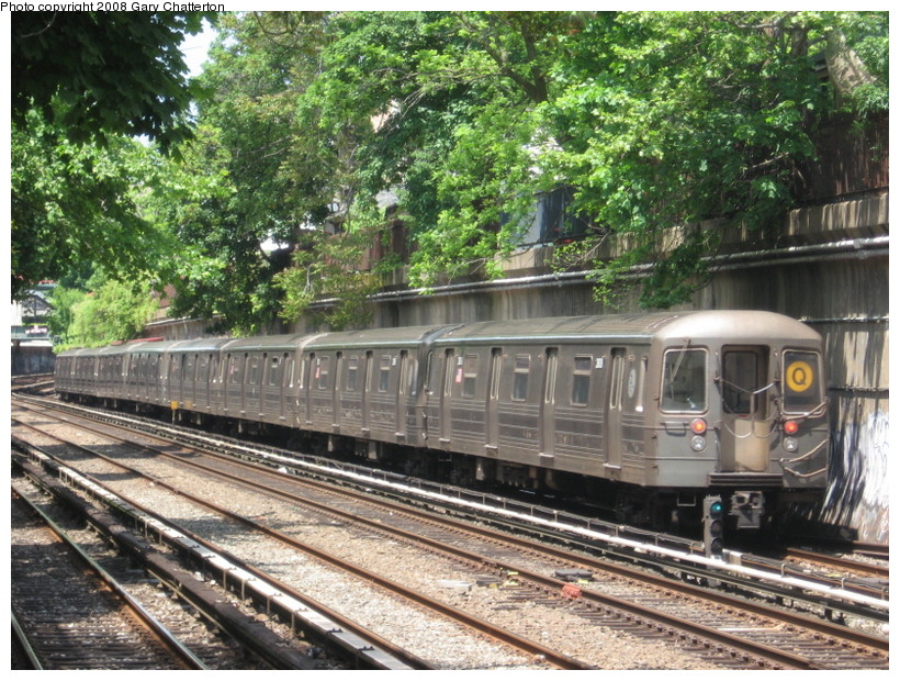 (217k, 820x620)<br><b>Country:</b> United States<br><b>City:</b> New York<br><b>System:</b> New York City Transit<br><b>Line:</b> BMT Brighton Line<br><b>Location:</b> Cortelyou Road <br><b>Route:</b> Q<br><b>Car:</b> R-68 (Westinghouse-Amrail, 1986-1988)  2808 <br><b>Photo by:</b> Gary Chatterton<br><b>Date:</b> 5/21/2008<br><b>Viewed (this week/total):</b> 3 / 1685