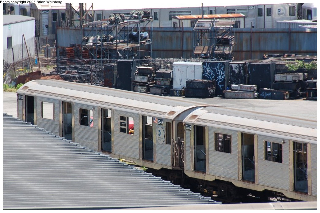 (271k, 1044x697)<br><b>Country:</b> United States<br><b>City:</b> New York<br><b>System:</b> New York City Transit<br><b>Location:</b> 207th Street Yard<br><b>Car:</b> R-32 (Budd, 1964)  3748/3749 <br><b>Photo by:</b> Brian Weinberg<br><b>Date:</b> 5/26/2008<br><b>Viewed (this week/total):</b> 1 / 1034