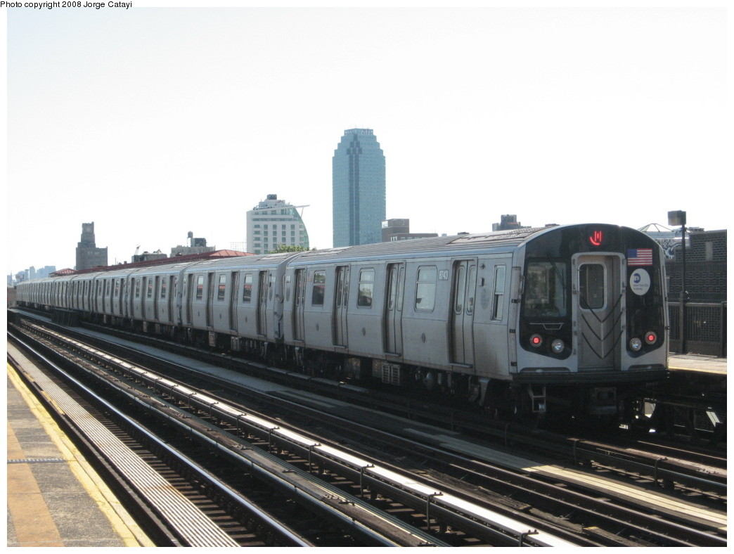 (173k, 1044x788)<br><b>Country:</b> United States<br><b>City:</b> New York<br><b>System:</b> New York City Transit<br><b>Line:</b> BMT Astoria Line<br><b>Location:</b> 36th/Washington Aves. <br><b>Route:</b> N<br><b>Car:</b> R-160B (Kawasaki, 2005-2008)  8743 <br><b>Photo by:</b> Jorge Catayi<br><b>Date:</b> 5/25/2008<br><b>Viewed (this week/total):</b> 1 / 1764