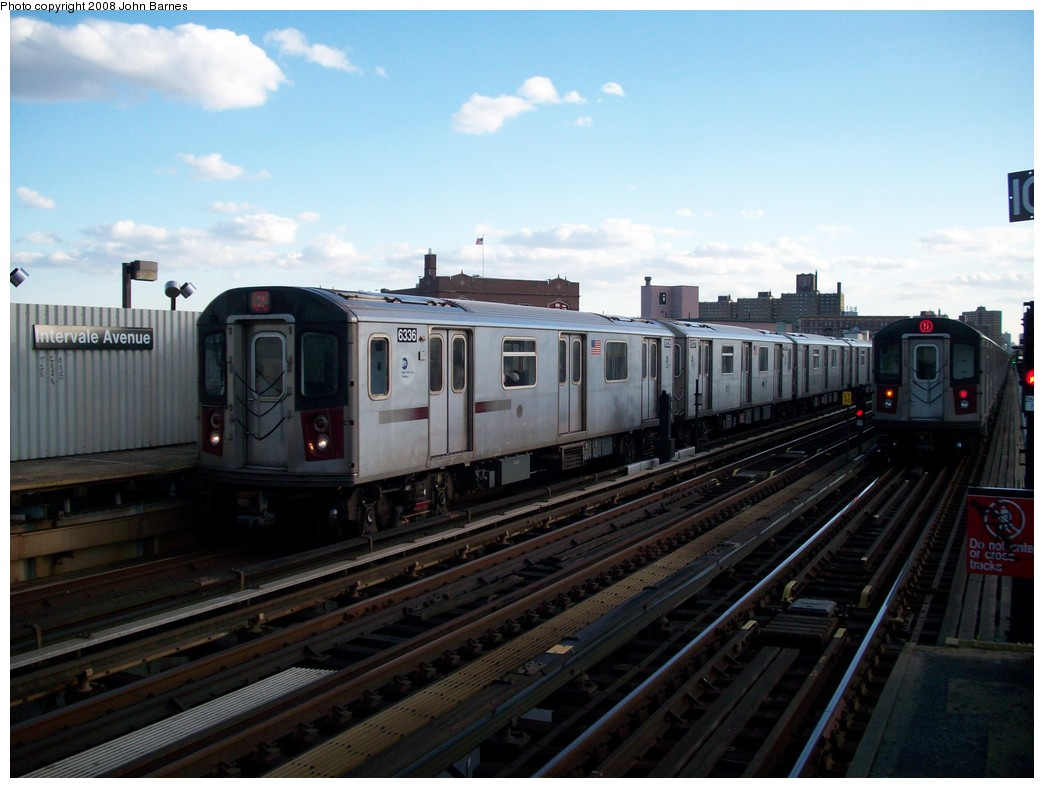 (184k, 1044x788)<br><b>Country:</b> United States<br><b>City:</b> New York<br><b>System:</b> New York City Transit<br><b>Line:</b> IRT White Plains Road Line<br><b>Location:</b> Intervale Avenue <br><b>Route:</b> 2<br><b>Car:</b> R-142 (Primary Order, Bombardier, 1999-2002)  6336 <br><b>Photo by:</b> John Barnes<br><b>Date:</b> 5/19/2008<br><b>Viewed (this week/total):</b> 1 / 2226