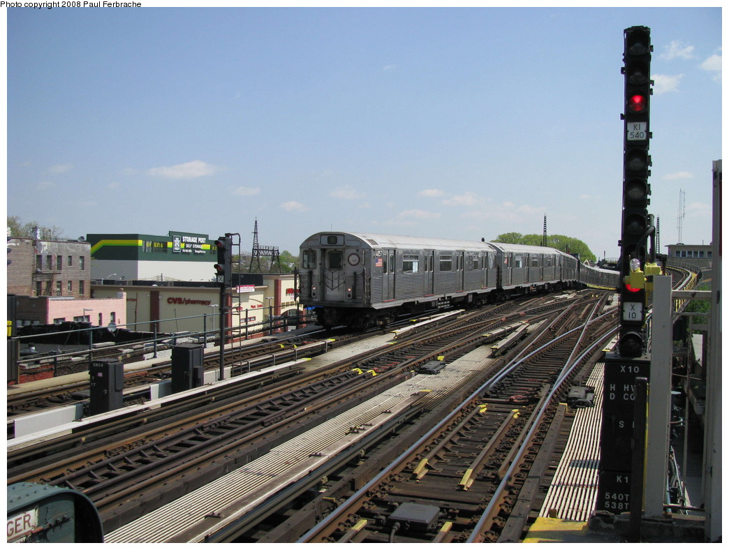 (234k, 1044x788)<br><b>Country:</b> United States<br><b>City:</b> New York<br><b>System:</b> New York City Transit<br><b>Line:</b> IND Fulton Street Line<br><b>Location:</b> Rockaway Boulevard <br><b>Route:</b> A<br><b>Car:</b> R-38 (St. Louis, 1966-1967)  4057 <br><b>Photo by:</b> Paul Ferbrache<br><b>Date:</b> 4/30/2008<br><b>Viewed (this week/total):</b> 0 / 916