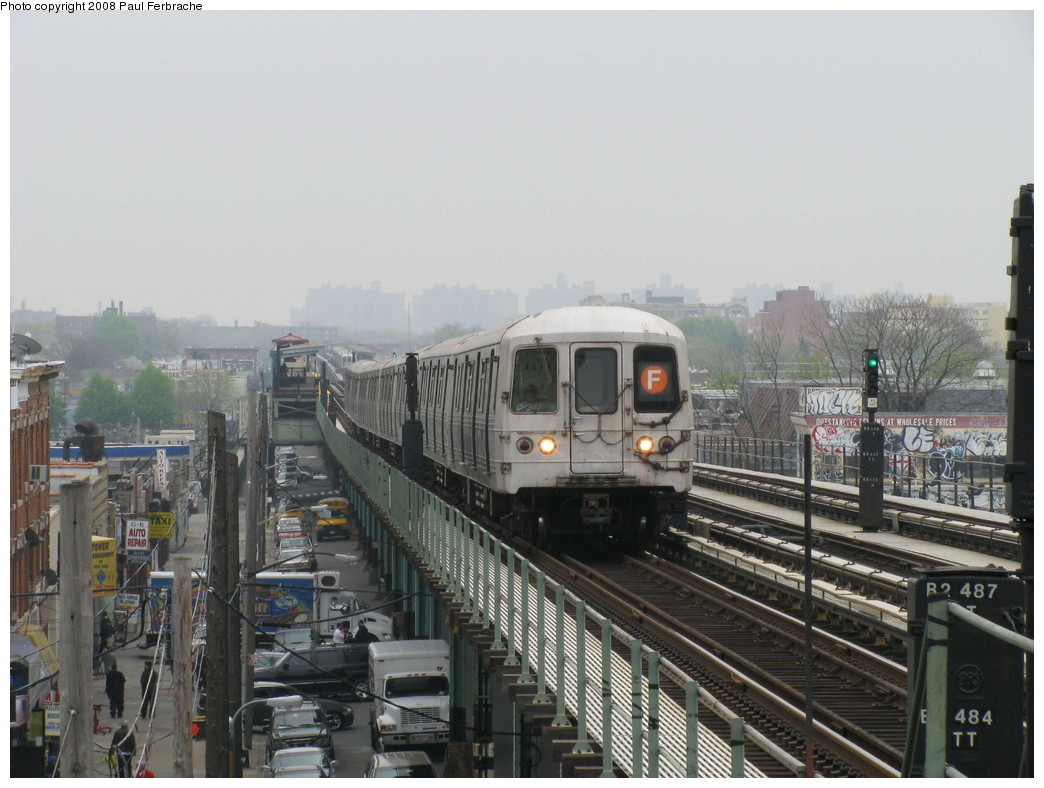 (206k, 1044x788)<br><b>Country:</b> United States<br><b>City:</b> New York<br><b>System:</b> New York City Transit<br><b>Line:</b> BMT Culver Line<br><b>Location:</b> Avenue I <br><b>Route:</b> F<br><b>Car:</b> R-46 (Pullman-Standard, 1974-75) 5628 <br><b>Photo by:</b> Paul Ferbrache<br><b>Date:</b> 5/2/2008<br><b>Viewed (this week/total):</b> 0 / 1595