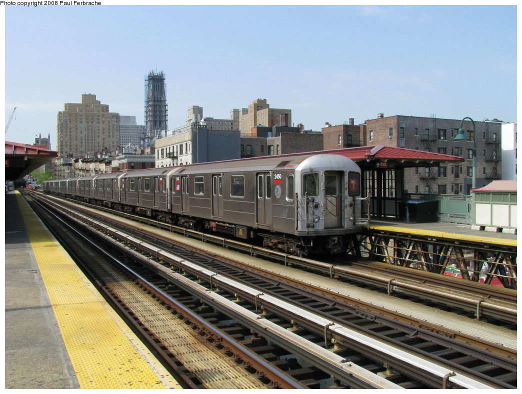 (251k, 1044x788)<br><b>Country:</b> United States<br><b>City:</b> New York<br><b>System:</b> New York City Transit<br><b>Line:</b> IRT West Side Line<br><b>Location:</b> 125th Street <br><b>Route:</b> 1<br><b>Car:</b> R-62A (Bombardier, 1984-1987)  2450 <br><b>Photo by:</b> Paul Ferbrache<br><b>Date:</b> 5/1/2008<br><b>Viewed (this week/total):</b> 1 / 1065
