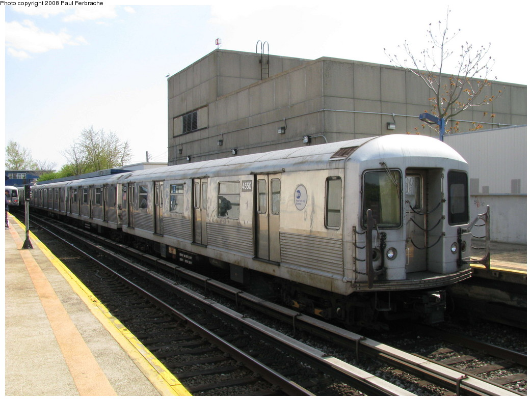 (206k, 1044x788)<br><b>Country:</b> United States<br><b>City:</b> New York<br><b>System:</b> New York City Transit<br><b>Line:</b> IND Rockaway<br><b>Location:</b> Broad Channel <br><b>Route:</b> A<br><b>Car:</b> R-42 (St. Louis, 1969-1970)  4550 <br><b>Photo by:</b> Paul Ferbrache<br><b>Date:</b> 4/30/2008<br><b>Viewed (this week/total):</b> 1 / 1103