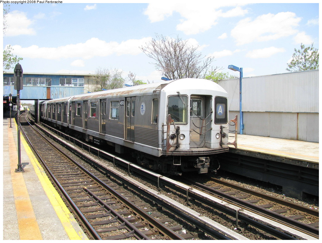 (276k, 1044x788)<br><b>Country:</b> United States<br><b>City:</b> New York<br><b>System:</b> New York City Transit<br><b>Line:</b> IND Rockaway<br><b>Location:</b> Broad Channel <br><b>Route:</b> A<br><b>Car:</b> R-42 (St. Louis, 1969-1970)  4570 <br><b>Photo by:</b> Paul Ferbrache<br><b>Date:</b> 4/30/2008<br><b>Viewed (this week/total):</b> 5 / 1109