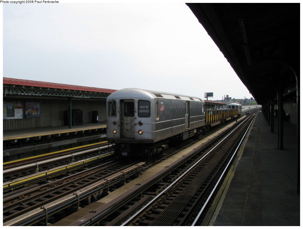 (174k, 1044x788)<br><b>Country:</b> United States<br><b>City:</b> New York<br><b>System:</b> New York City Transit<br><b>Line:</b> IRT Pelham Line<br><b>Location:</b> Whitlock Avenue <br><b>Route:</b> Work Service<br><b>Car:</b> R-127/R-134 (Kawasaki, 1991-1996) EP001 <br><b>Photo by:</b> Paul Ferbrache<br><b>Date:</b> 5/1/2008<br><b>Viewed (this week/total):</b> 1 / 1769