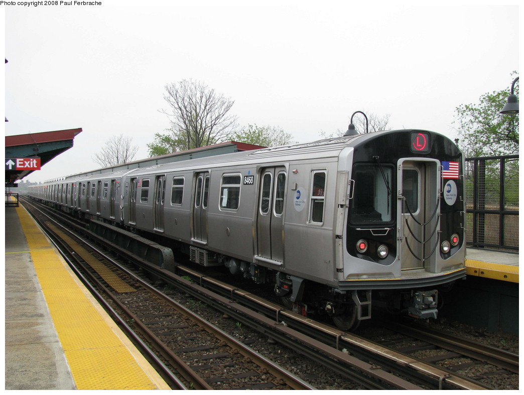 (214k, 1044x788)<br><b>Country:</b> United States<br><b>City:</b> New York<br><b>System:</b> New York City Transit<br><b>Line:</b> BMT Canarsie Line<br><b>Location:</b> New Lots Avenue <br><b>Route:</b> L<br><b>Car:</b> R-160A-1 (Alstom, 2005-2008, 4 car sets)  8468 <br><b>Photo by:</b> Paul Ferbrache<br><b>Date:</b> 5/2/2008<br><b>Viewed (this week/total):</b> 1 / 1571