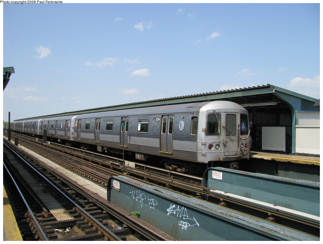 (208k, 1044x788)<br><b>Country:</b> United States<br><b>City:</b> New York<br><b>System:</b> New York City Transit<br><b>Line:</b> IND Fulton Street Line<br><b>Location:</b> Rockaway Boulevard <br><b>Route:</b> A<br><b>Car:</b> R-44 (St. Louis, 1971-73) 5314 <br><b>Photo by:</b> Paul Ferbrache<br><b>Date:</b> 4/30/2008<br><b>Viewed (this week/total):</b> 0 / 761