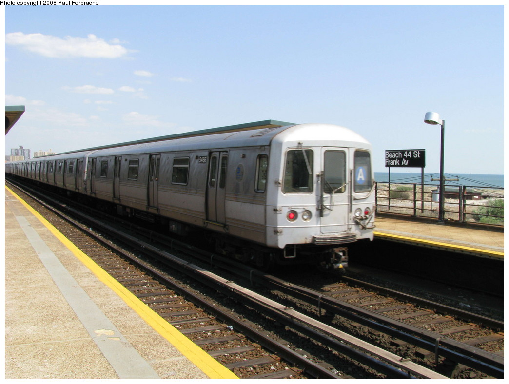 (201k, 1044x788)<br><b>Country:</b> United States<br><b>City:</b> New York<br><b>System:</b> New York City Transit<br><b>Line:</b> IND Rockaway<br><b>Location:</b> Beach 44th Street/Frank Avenue <br><b>Route:</b> A<br><b>Car:</b> R-44 (St. Louis, 1971-73) 5466 <br><b>Photo by:</b> Paul Ferbrache<br><b>Date:</b> 4/30/2008<br><b>Viewed (this week/total):</b> 5 / 942