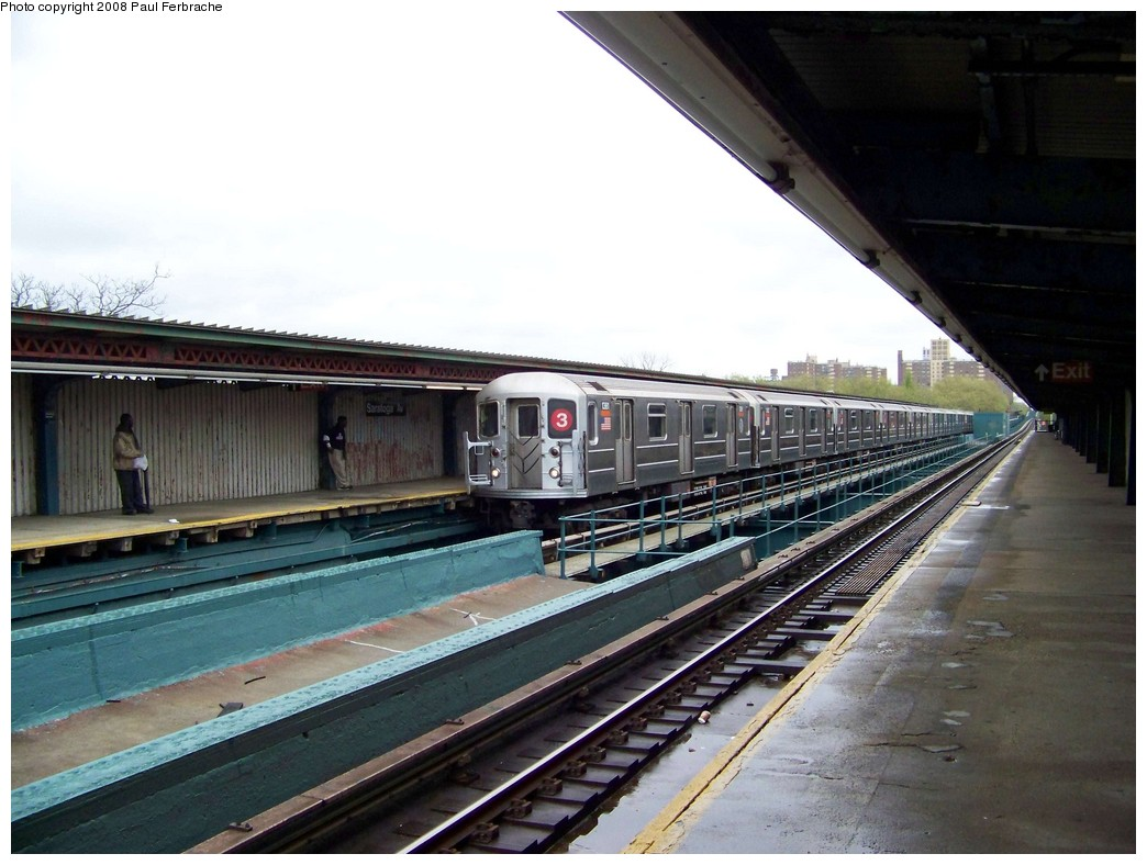 (202k, 1044x788)<br><b>Country:</b> United States<br><b>City:</b> New York<br><b>System:</b> New York City Transit<br><b>Line:</b> IRT Brooklyn Line<br><b>Location:</b> Saratoga Avenue <br><b>Route:</b> 3<br><b>Car:</b> R-62 (Kawasaki, 1983-1985)  1351 <br><b>Photo by:</b> Paul Ferbrache<br><b>Date:</b> 4/29/2008<br><b>Viewed (this week/total):</b> 1 / 1099