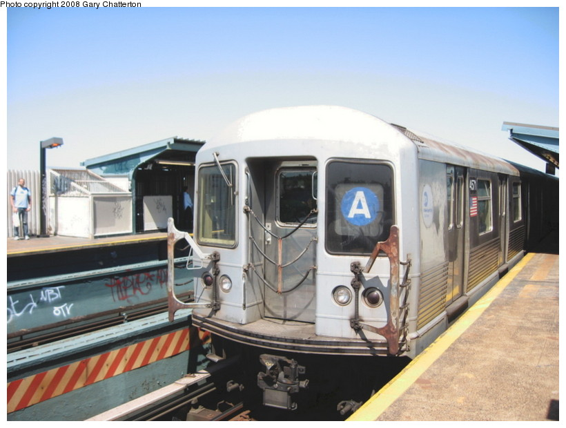 (123k, 820x620)<br><b>Country:</b> United States<br><b>City:</b> New York<br><b>System:</b> New York City Transit<br><b>Line:</b> IND Fulton Street Line<br><b>Location:</b> 80th Street/Hudson Street <br><b>Route:</b> A<br><b>Car:</b> R-42 (St. Louis, 1969-1970)  4571 <br><b>Photo by:</b> Gary Chatterton<br><b>Date:</b> 5/28/2008<br><b>Viewed (this week/total):</b> 1 / 1073