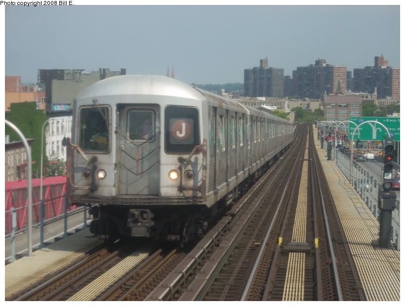 (154k, 820x620)<br><b>Country:</b> United States<br><b>City:</b> New York<br><b>System:</b> New York City Transit<br><b>Line:</b> BMT Nassau Street/Jamaica Line<br><b>Location:</b> Williamsburg Bridge<br><b>Route:</b> J<br><b>Car:</b> R-42 (St. Louis, 1969-1970)   <br><b>Photo by:</b> Bill E.<br><b>Date:</b> 6/1/2008<br><b>Viewed (this week/total):</b> 1 / 1099
