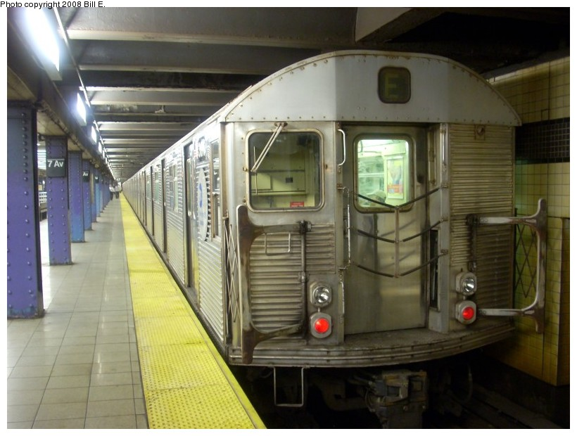 (153k, 820x620)<br><b>Country:</b> United States<br><b>City:</b> New York<br><b>System:</b> New York City Transit<br><b>Line:</b> IND Queens Boulevard Line<br><b>Location:</b> 7th Avenue/53rd Street <br><b>Route:</b> E<br><b>Car:</b> R-32 (Budd, 1964)  3816 <br><b>Photo by:</b> Bill E.<br><b>Date:</b> 6/1/2008<br><b>Viewed (this week/total):</b> 1 / 1256