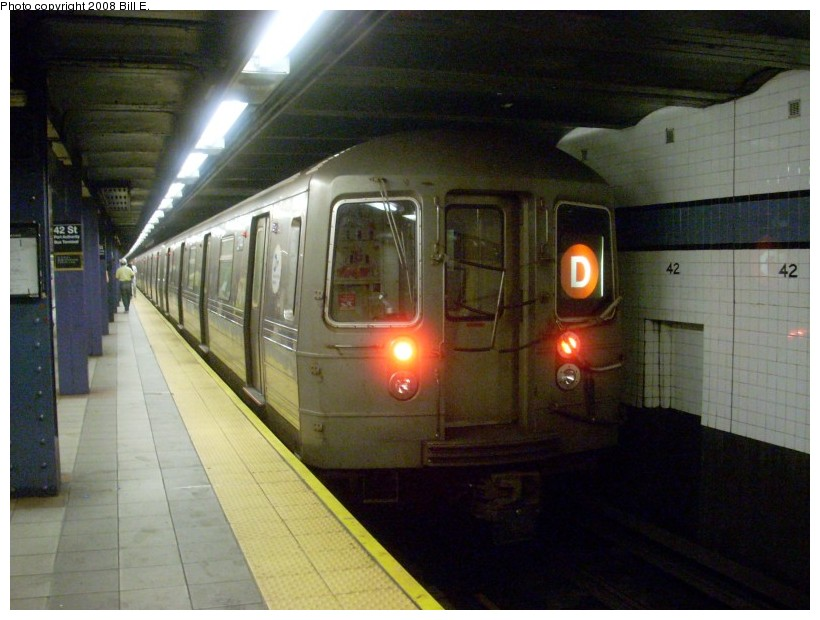 (152k, 820x620)<br><b>Country:</b> United States<br><b>City:</b> New York<br><b>System:</b> New York City Transit<br><b>Line:</b> IND 8th Avenue Line<br><b>Location:</b> 42nd Street/Port Authority Bus Terminal <br><b>Route:</b> D reroute<br><b>Car:</b> R-68 (Westinghouse-Amrail, 1986-1988)   <br><b>Photo by:</b> Bill E.<br><b>Date:</b> 6/1/2008<br><b>Viewed (this week/total):</b> 4 / 2196