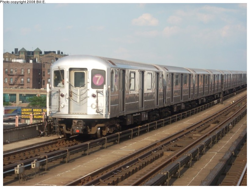 (150k, 820x620)<br><b>Country:</b> United States<br><b>City:</b> New York<br><b>System:</b> New York City Transit<br><b>Line:</b> IRT Flushing Line<br><b>Location:</b> 46th Street/Bliss Street <br><b>Route:</b> 7<br><b>Car:</b> R-62A (Bombardier, 1984-1987)  1840 <br><b>Photo by:</b> Bill E.<br><b>Date:</b> 6/1/2008<br><b>Viewed (this week/total):</b> 0 / 594