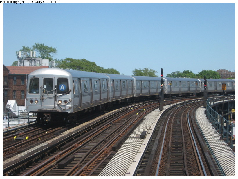 (143k, 820x620)<br><b>Country:</b> United States<br><b>City:</b> New York<br><b>System:</b> New York City Transit<br><b>Line:</b> IND Fulton Street Line<br><b>Location:</b> 111th Street/Greenwood Avenue <br><b>Route:</b> A<br><b>Car:</b> R-44 (St. Louis, 1971-73) 5222 <br><b>Photo by:</b> Gary Chatterton<br><b>Date:</b> 5/28/2008<br><b>Viewed (this week/total):</b> 0 / 1497