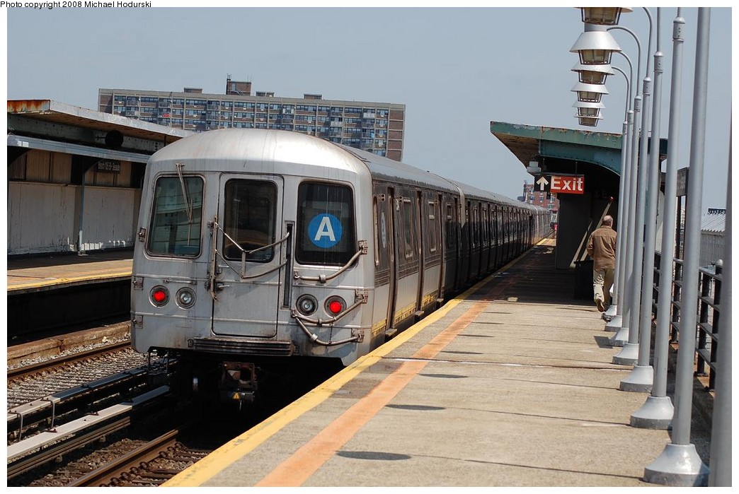 (231k, 1044x699)<br><b>Country:</b> United States<br><b>City:</b> New York<br><b>System:</b> New York City Transit<br><b>Line:</b> IND Rockaway<br><b>Location:</b> Beach 105th Street/Seaside <br><b>Route:</b> A<br><b>Car:</b> R-44 (St. Louis, 1971-73) 5214 <br><b>Photo by:</b> Michael Hodurski<br><b>Date:</b> 5/3/2008<br><b>Viewed (this week/total):</b> 1 / 1219