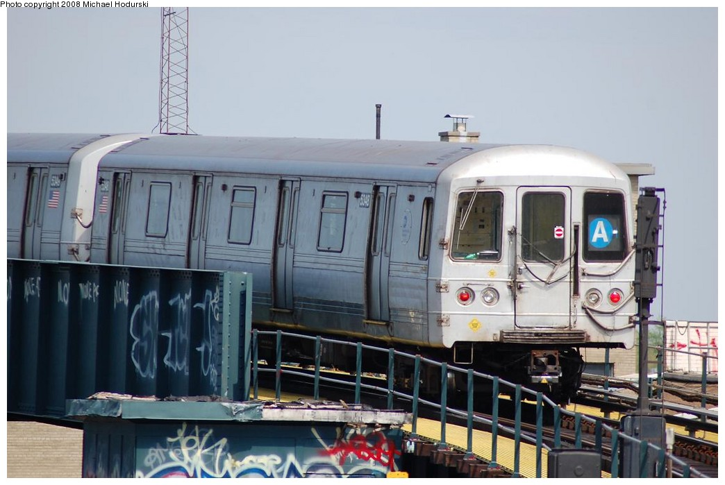 (197k, 1044x699)<br><b>Country:</b> United States<br><b>City:</b> New York<br><b>System:</b> New York City Transit<br><b>Line:</b> IND Fulton Street Line<br><b>Location:</b> Rockaway Boulevard <br><b>Route:</b> A<br><b>Car:</b> R-44 (St. Louis, 1971-73) 5348 <br><b>Photo by:</b> Michael Hodurski<br><b>Date:</b> 5/3/2008<br><b>Viewed (this week/total):</b> 0 / 767