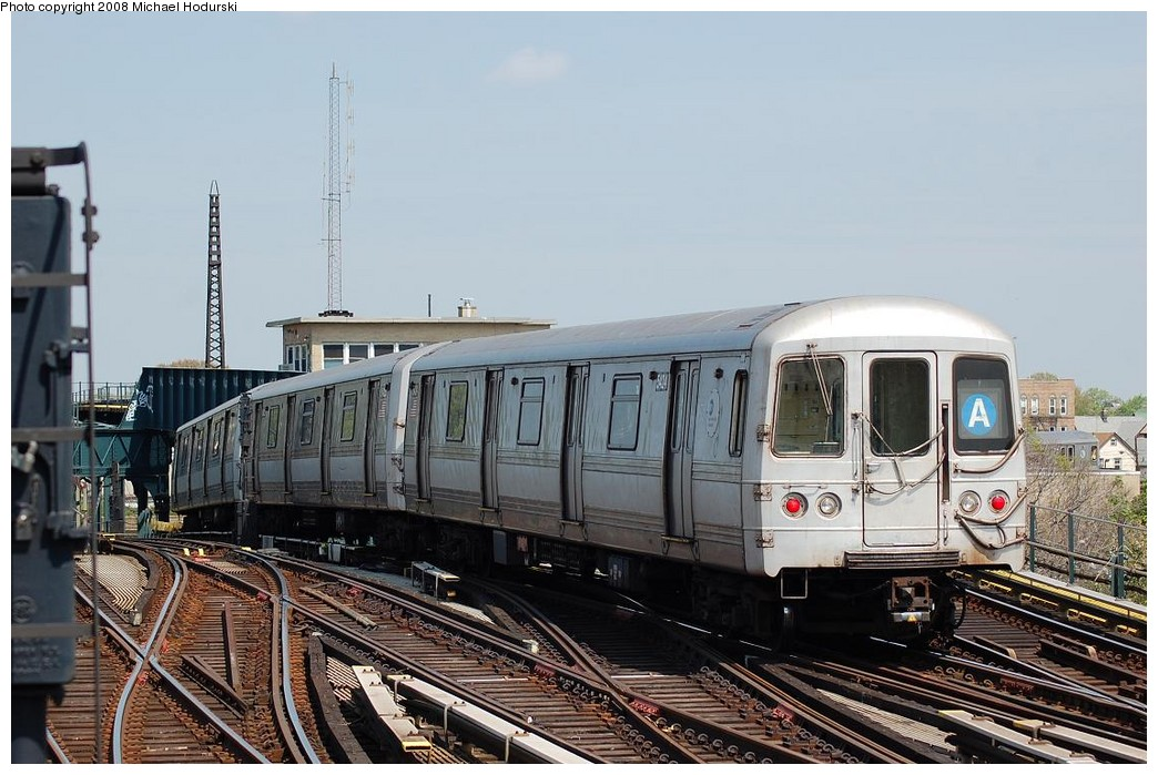 (229k, 1044x699)<br><b>Country:</b> United States<br><b>City:</b> New York<br><b>System:</b> New York City Transit<br><b>Line:</b> IND Fulton Street Line<br><b>Location:</b> Rockaway Boulevard <br><b>Route:</b> A<br><b>Car:</b> R-44 (St. Louis, 1971-73) 5404 <br><b>Photo by:</b> Michael Hodurski<br><b>Date:</b> 5/3/2008<br><b>Viewed (this week/total):</b> 1 / 963